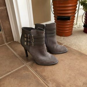 Grey Booties with Buckle Detail